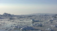 Stock Video Footage of Ilulissat icebergs time lapse