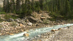 River valley and mountains, tilt Stock Footage
