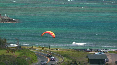 Hawaii paraglide 14 hdp Stock Footage