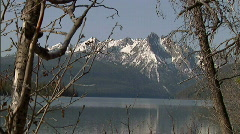 Sawtooth Mountains Redfish Lake 1 59.94 Stock Footage