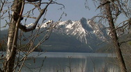 Stock Video Footage of Sawtooth Mountains Redfish Lake 1 59.94