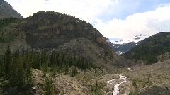 Glacial valley, #6 pan Stock Footage