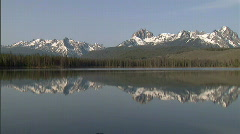 Sawtooth Mountains Redfish Lake 2 59.94 Stock Footage