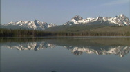 Stock Video Footage of Sawtooth Mountains Redfish Lake 2 59.94
