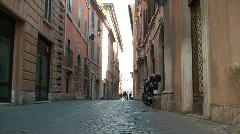 Narrow street Stock Footage