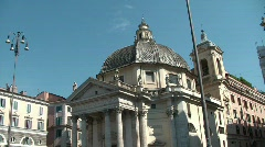 Church in Rome Stock Footage