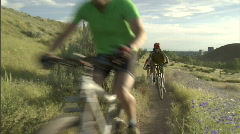 Spring Mountain Biking 8 23.98 Stock Footage
