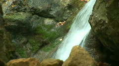 Mountain river in the woods. Zoom out Stock Footage