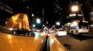 Stock Video Footage of Yellow Taxi Cabs
