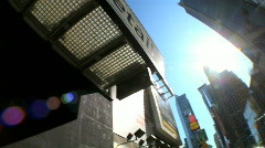 Times Square with Fish-Eye Stock Footage