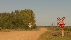 Railroad, steam train on the prairie, #1 Stock Footage