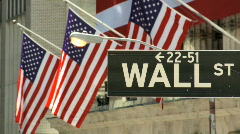 Stock Video Footage of Wall Street USA