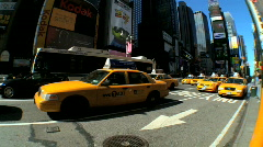 Times Square with Fish-Eye - stock footage