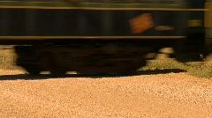 Railroad, steam train passenger cars, lower third Stock Footage