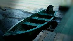 Old wooden fishing boat  Stock Footage