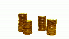 Coins loss growth Stock Footage