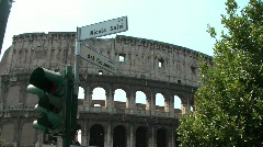 Street sign at Colosseum Stock Footage