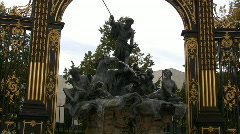 Fountain in nancy - france Stock Footage
