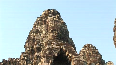 Angkor stone images Stock Footage