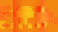 Stock Video Footage of Geometric Orange Looping Background