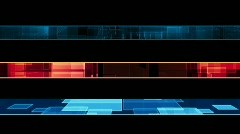 Three Geometric Looping lower thirds Stock Footage