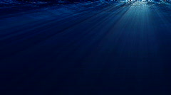 Underwater scene with sunrays (Loop) Stock Footage