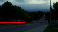 Time lapse of Traffic on Autumn Morning Stock Footage