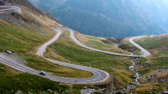 Sinuous road on top of the mountain Stock Footage