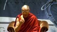 Politics and protest, Dalai Lama speaks part 3 Stock Footage