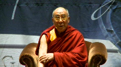 Politics and protest, Dalai Lama speaks part 4 Stock Footage