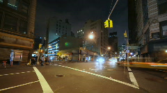 City street corner time lapse Stock Footage