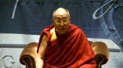 politics and protest, Dalai Lama speaks part 5 - stock footage