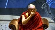 Politics and protest, Dalai Lama speaks part 6 Stock Footage