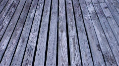 Wood dock Stock Footage