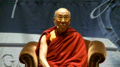politics and protest, Dalai Lama speaks part 7 - stock footage
