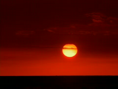 Sunrise over Black Ocean 640x480 Stock Footage