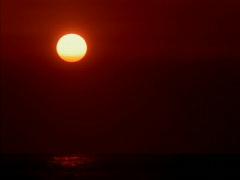Sunset over Black Ocean 640x480 Stock Footage