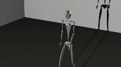 Skeletal walking formation structure robot Stock Footage