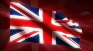Great Britain Flag - HD - looping Stock Footage