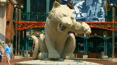 Detroit Tiger's ball park Stock Footage