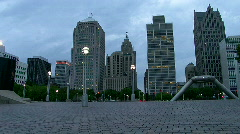 Detroit's Hart Plaza Stock Footage