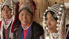 Akha women 09 Stock Footage
