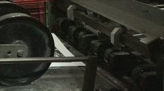 Folding Machine 1 - stock footage