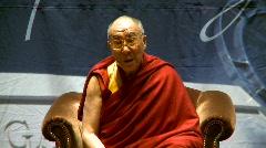 politics and protest, Dalai Lama speaks part 10 - stock footage