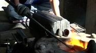 Hot Furnace Stock Footage