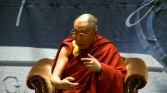 politics and protest, Dalai Lama speaks part 11 - stock footage