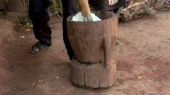 Pounding Sticky Rice Stock Footage