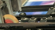 Stock Video Footage of Printing Press Detail 1