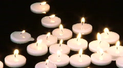 Floating Candles Stock Footage