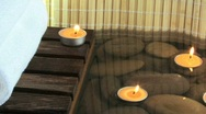 Spa Setting with Candles 4 Stock Footage